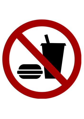 Image interdit de boire ou de manger