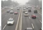Photo autoroute de Pekin dans le brouillard
