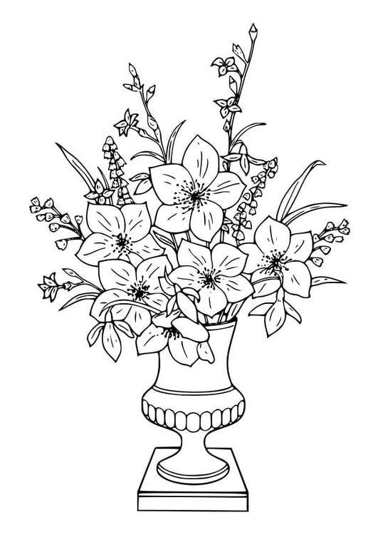 Dessin de bouquet de rose - Dessin de rose ...