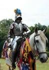 Photo chevalier à cheval