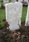 Photo cimetière de Tyne Cot - tombe d'un soldat juif