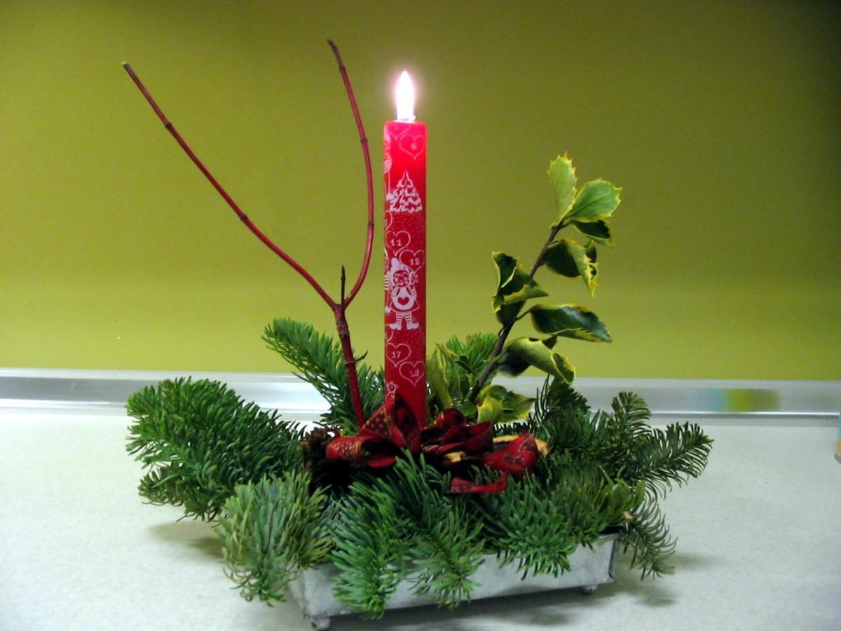 Photo composition florale pour no l img 16408 - Petite composition florale pour table ...