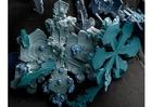 Photo cristaux de neige sous le microscope