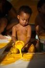 Photo enfant avec peinture