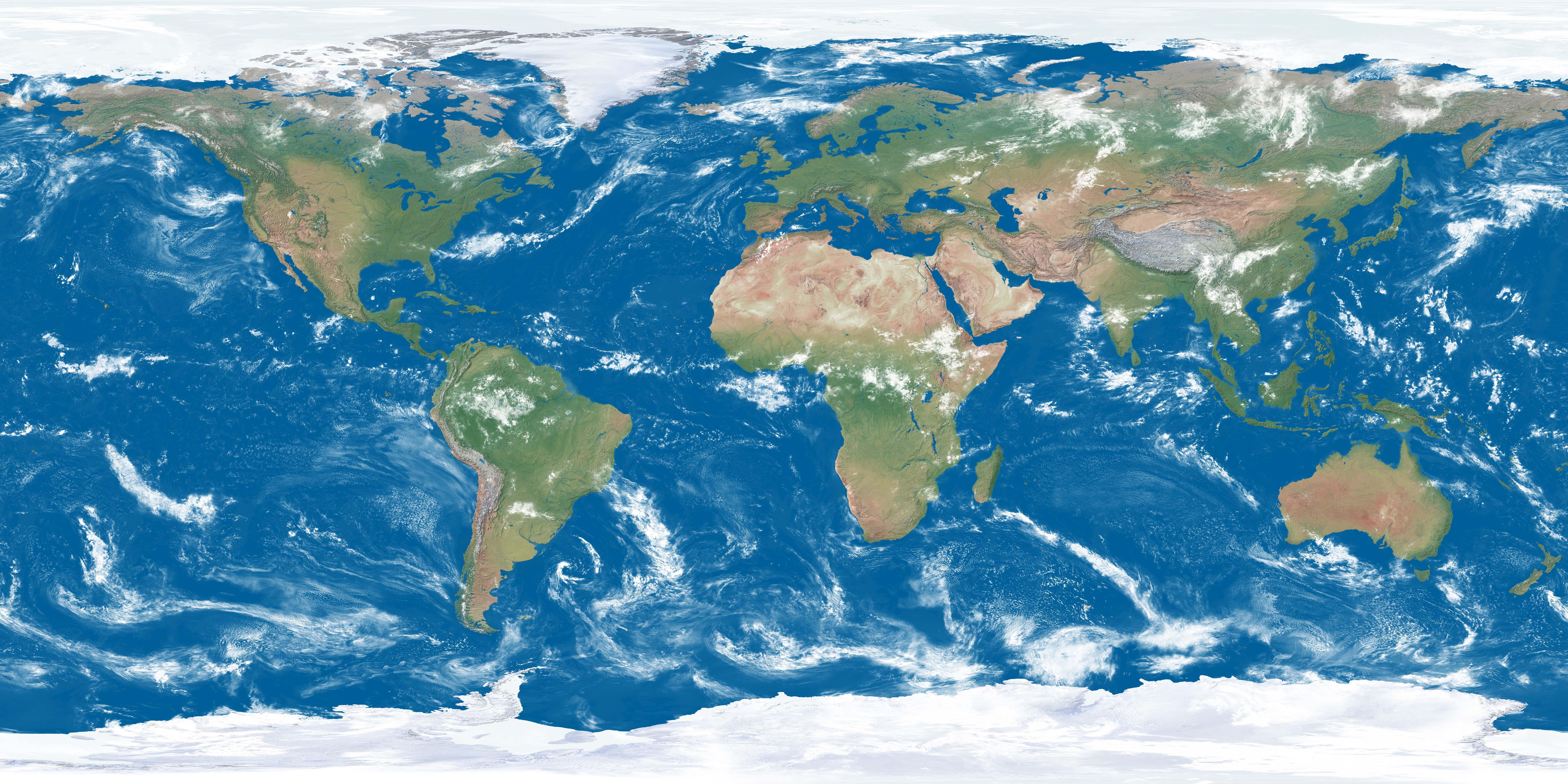 Photo la terre avec nuages - img 15646