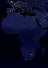 Photo la terre de nuit - zones urbaines d'Afrique