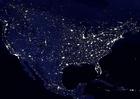 Photo la terre de nuit - zones urbaines d'Amérique du nord