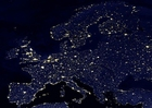 Photo la terre de nuit - zones urbaines d'Europe