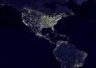 Photo la terre de nuit - zones urbaines