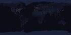 Photo la terre pendant la nuit