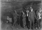 Photo mineurs dans une mine de charbon, 1908