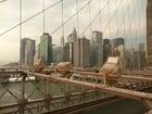 Photo New York - Brooklyn Bridge and Manhattan