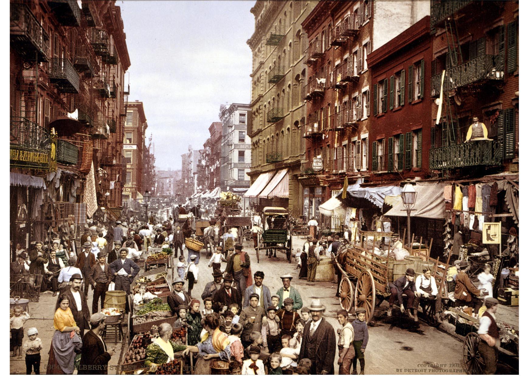photo new york rue mulberry en 1900 img 12847. Black Bedroom Furniture Sets. Home Design Ideas