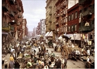Photo New York, rue Mulberry en 1900