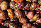 Photo oeufs de Pâques décorés