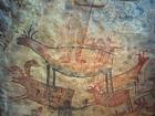 Photo peinture murale dans grotte