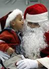 Photo Père Noël et enfant