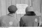 Photo Pologne-Zichenau-Juifs devant une publicatioj