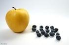 Photo pomme et myrtilles