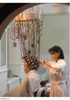 Photo reconstitution d'un vieux salon de coiffure