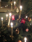 Photo sapin de Noël avec bougies