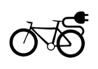 Coloriage vélo électrique