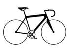 Coloriage vélo de course