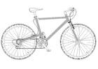 Coloriage vélo tout-terrain