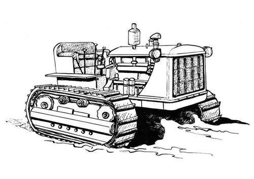 Coloriage Tracteur Difficile.Dessin De Tracteur Difficile A Colorier
