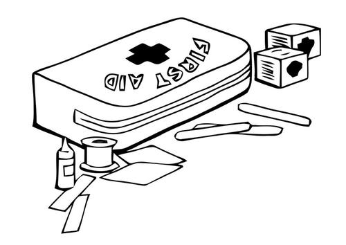 dibujos de primeros auxilios para colorear