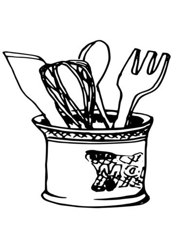 Clipart Dessin Ustensile De Cuisine